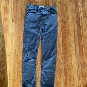 Zara  kids Gray Adjustable waist jeans  Sz 7